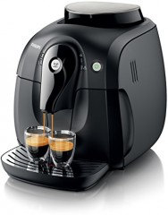 Philips HD8650/01 Kaffeevollautomat Keramisches Mahlwerk, 2000 Serie, schwarz