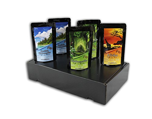 Geschenk Set - Länder Kaffee aus aller Welt - Kaffeebohnen im Geschenkkarton , das perfekte Geschenk