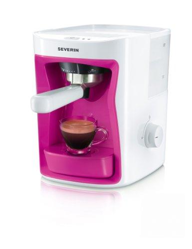 Severin KA 5993 Espressoautomat, 15 bar, weiß / pink