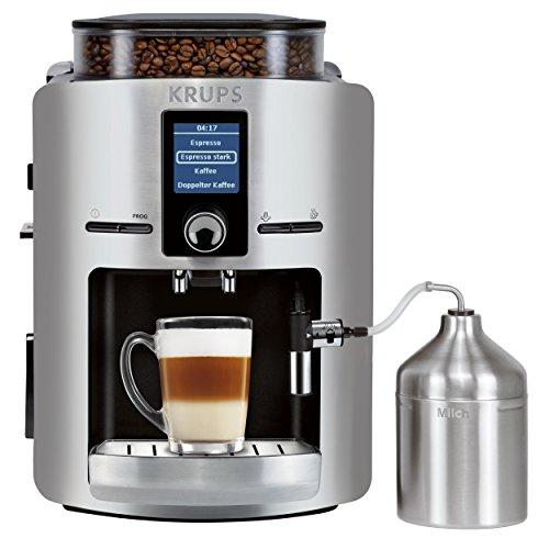 KRUPS EA826E Kaffeevollautomat (1,8 l, 15 bar, LC Display, Cappuccinatore) aluminium